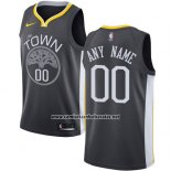 Camiseta Golden State Warriors Nike Personalizada 17-18 Negro