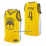 Camiseta Golden State Warriors Quinn Cook #4 Earned 2018-19 Amarillo