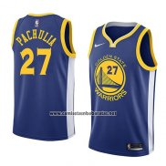 Camiseta Golden State Warriors Zaza Pachulia #27 Icon 2018 Azul