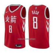 Camiseta Houston Rockets Le'bryan Nash #8 Ciudad 2017-18 Rojo