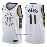 Camiseta Indiana Pacers Domantas Sabonis #11 Association 2017-18 Blanco