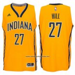 Camiseta Indiana Pacers George Hill #27 Amarillo