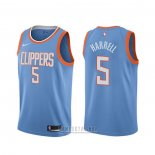 Camiseta Los Angeles Clippers Montrezl Harrell #5 Ciudad Azul