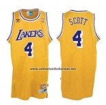 Camiseta Los Angeles Lakers Byron Scott #4 Retro Amarillo