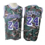 Camiseta Los Angeles Lakers Kobe Bryant #24 Camuflaje Verde