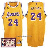Camiseta Los Angeles Lakers Kobe Bryant #24 Retro Amarillo