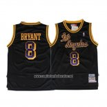 Camiseta Los Angeles Lakers Kobe Bryant #8 Retro Negro
