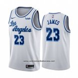 Camiseta Los Angeles Lakers Lebron James #23 Classic 2019-20 Blanco