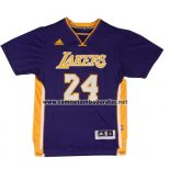 Camiseta Manga Corta Los Angeles Lakers Kobe Bryant #24 Violeta
