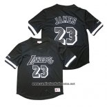 Camiseta Manga Corta Los Angeles Lakers Lebron James Negro