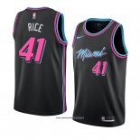 Camiseta Miami Heat Glen Rice #41 Ciudad 2018-19 Negro