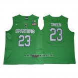 Camiseta NCAA Michigan State Spartans Draymond Green #23 Verde