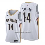 Camiseta New Orleans Pelicans Brandon Ingram #14 Association Blanco