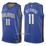 Camiseta Orlando Magic Bismack Biyombo #11 Icon 2017-18 Azul