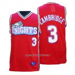 Camiseta Pelicula Knights Calvin Cambridge #3 Rojo