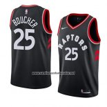Camiseta Toronto Raptors Chris Boucher #25 Statement 2018 Negro