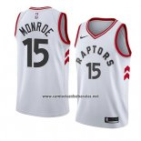 Camiseta Toronto Raptors Greg Monroe #15 Association 2018 Blanco