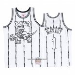 Camiseta Toronto Raptors Tracy Mcgrady #1 Concord Collection Hardwood Classics Blanco Negro