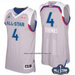 Camiseta All Star 2017 Boston Celtics Isaiah Thomas #4 Gris