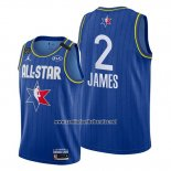 Camiseta All Star 2020 Los Angeles Lakers Lebron James #2 Azul