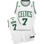 Camiseta Boston Celtics Jaylen Brown #7 Blanco