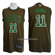 Camiseta Boston Celtics Kyrie Irving Nike #11 Verde