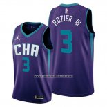 Camiseta Charlotte Hornets Terry Rozier III #3 Statement Edition Violeta