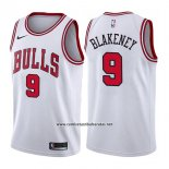 Camiseta Chicago Bulls Antonio Blakeney #9 Association 2017-18 Blanco