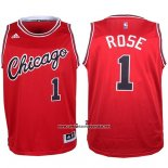 Camiseta Chicago Bulls Derrick Rose #1 Retro Rojo