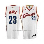Camiseta Cleveland Cavaliers Lebron James Home Blanco