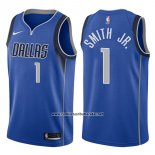 Camiseta Dallas Mavericks Dennis Smith Jr. #1 Icon 2017-18 Azul
