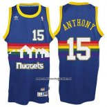 Camiseta Denver Nuggets Carmelo Anthony #15 Retro Azul