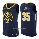 Camiseta Denver Nuggets Kenneth Faried #35 Ciudad 2017-18 Azul