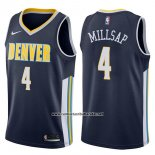 Camiseta Denver Nuggets Paul Millsap #4 Icon 2017-18 Azul