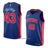 Camiseta Detroit Pistons Anthony Tolliver #43 Icon 2018 Azul