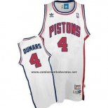 Camiseta Detroit Pistons Joe Dumars #4 Retro Blanco