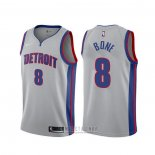 Camiseta Detroit Pistons Jordan Bone #8 Statement Gris