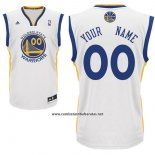 Camiseta Golden State Warriors Adidas Personalizada Blanco