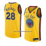 Camiseta Golden State Warriors Alfonzo Mckinnie #28 Ciudad 2018-19 Amarillo