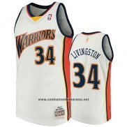 Camiseta Golden State Warriors Shaun Livingston 2009-10 Hardwood Classics Blanco