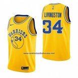Camiseta Golden State Warriors Shaun Livingston #34 Hardwood Classic 2018-19 Amarillo