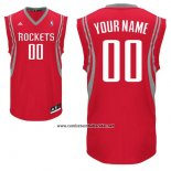 Camiseta Houston Rockets Adidas Personalizada Rojo