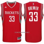 Camiseta Houston Rockets Corey Brewer #33 Rojo