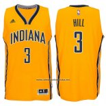 Camiseta Indiana Pacers George Hill #3 Amarillo