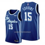 Camiseta Los Angeles Lakers Demarcus Cousins #15 Classic Edition 2019-20 Azul