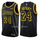 Camiseta Los Angeles Lakers Kobe Bryant #24 Ciudad 2017-18 Negro
