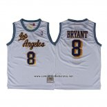 Camiseta Los Angeles Lakers Kobe Bryant #8 Retro Blanco