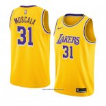 Camiseta Los Angeles Lakers Mike Muscala #31 Icon 2018-19 Amarillo