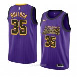 Camiseta Los Angeles Lakers Reggie Bullock #35 Ciudad 2018-19 Violeta