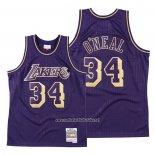 Camiseta Los Angeles Lakers Shaquille O'neal #34 2020 Chinese New Year Throwback Violeta